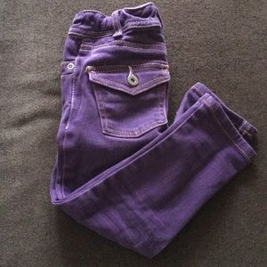 Girls Mini Boden Purple Denim Skinny Jeans 3T